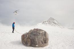 Italian Limes, Installation of the border measurement devices on the Austrian-Italian watershed, Similaun glacier, Ötztal Alps, April 2016 Image: Delfino Sisto Legnani © Studio Folder