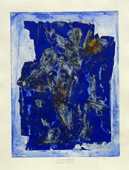 Ultramarin - 2019 Mischtechnik auf Papier 54 x 41 cm (65 x 50 cm) © Galerie Welz