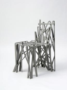 "Patrick Jouin, Stuhl ""Solid. C2"", 2004. Foto: Die Neue Sammlung - The Design Museum (A. Laurenzo). © Chair Solid 2C, designed by Patrick Jouin, 2004, producer: Materialise MGX"