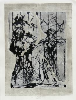 Valcamonica - 2019 Mischtechnik auf Papier 59 x 44 cm (65 x 50 cm) © Galerie Welz