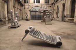 Bruno Gironcoli: Casted Enigma (Blick in die Ausstellung) (Foto: Karlheinz Pichler)