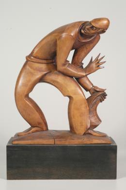 gnaz Gabloner, Der Dieb, um 1920, Zirbe gebeizt  © TLM