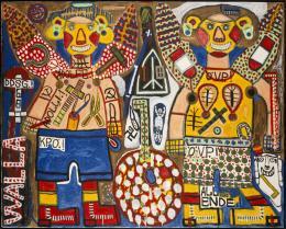 August Walla, Zwei Engel, 1986 (c) Art Brut KG