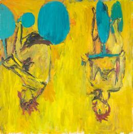 Georg Baselitz: Die Mädchen von Olmo II, 1981. Collection Centre Pompidou, Paris; Musée national d'art moderne - Centre de création industrielle, Ankauf 1982. © Georg Baselitz; Foto: Centre Pompidou, MNAM-CCI/Bertrand Prévost/Dist. RMN-GP