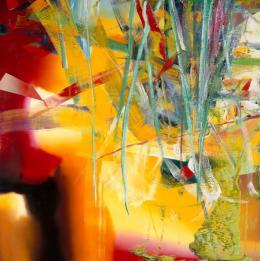 Gerhard Richter: Juni n° 527, 1983. Collection Centre Pompidou, Paris; Musée national d'art moderne - Centre de création industrielle, Ankauf 1984. © Gerhard Richter; Foto: Centre Pompidou, MNAM-CCI/Philippe Migeat/Dist. RMN-GP