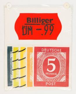 KP Brehmer: Ohne Titel, o.J. (um 1967/1991) Farbe auf Klebefolie, Folie, Linolschnitt auf Papier, 62 × 48,5 cm. KP Brehmer Sammlung und Nachlass, Berlin; © VG Bild-Kunst, Bonn 2018. Foto: Roman März