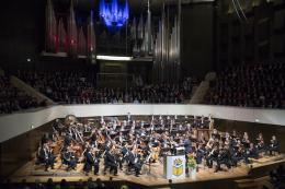 Feierliche Eröffnung der Leipziger Buchmesse 2019 im Gewandhaus zu Leipzig mit dem Gewandhausorchester Leipzig unter der Leitung von Jakub Hrůša (Foto: Stefan Hoyer/LB)