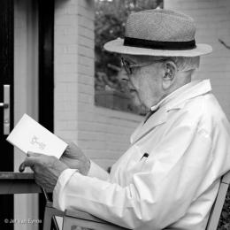 Portrait Raoul De Keyser, Mai 2012. Raoul De Keyser in seinem Haus in Deinze; Foto: Jef Van Eynde