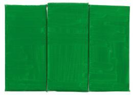 Raoul De Keyser: Green, Green, Green, 2012. Öl auf Leinwand über Holztafel, 21,5 x 29,5 cm; Kunstmuseum St. Gallen, erworben mit Mitteln der Ernst-Schürpf-Stiftung, 2013. © Familie Raoul De Keyser   SABAM Belgien 2018, Foto: Jens Ziehe