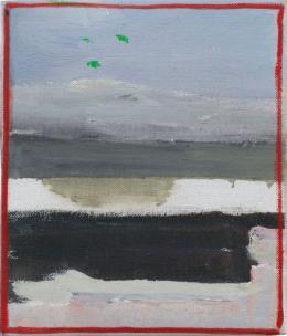 Raoul De Keyser: Oever, 2005. Öl auf Leinwand auf Holz, 18 x 15,5 cm; Sammlung Barbara Weiss, Berlin. © Familie Raoul De Keyser   SABAM Belgien 2018, Foto: Jens Ziehe