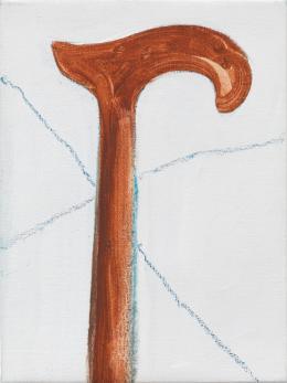 Raoul De Keyser: To Walk, 2012. Öl, Gips und Wachskreide auf Leinwand auf Holz, 28,2 x 21,2 cm; Privatsammlung. © Familie Raoul De Keyser   SABAM Belgien 2018, Foto: Jens Ziehe