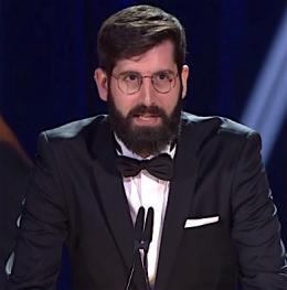 Antoine Russbach bei der Filmpreisverleihung in Genf (Bild: Screenshot)