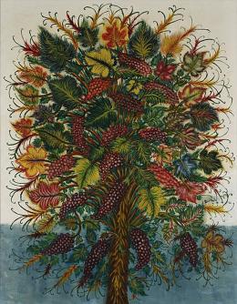Séraphine Louis: Grappes de Raisin, ca. 1930. Öl auf Leinwand, 146 x 114 cm; Private Collection. Courtesy Galerie Dina Vierny, Paris
