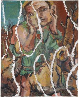Georg Baselitz: Ein Grüner zerrissen, 1967. Öl auf Leinwand, 131,5 x 162 cm; Staatsgalerie Stuttgart, © Georg Baselitz 2018