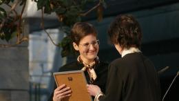 Stelling Anke bei der Verleihung des Leipziger Buchpreises am 21.3.2019, Foto: Wikipedia Amrei-Marie, CCO