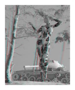 Tim Berresheim: Forst (Kohärentes Licht) Anaglyph, 2017. Pigment und Harz auf Papier, 180 × 150 cm; Besitz des Künstlers. © Tim Berresheim und SNA – Studios New Amerika GmbH