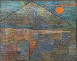 Paul Klee Ad Parnassum, 1932, 274 (X 14) Ölfarbe, Linien aufgestempelt, Punkte zunächst mit Weiss aufgestempelt und nachträglich übermalt, auf Kaseinfarbe auf Leinwand, 100 x 126 cm Kunstmuseum Bern, Verein der Freunde