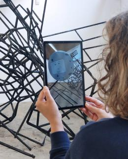 Till Langschied, A Future Unwilling to Come, 2019 Animation as Augmented Reality Application