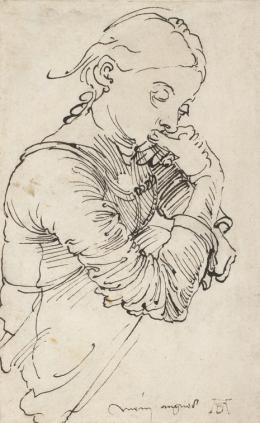 """Mein Agnes"" (Agnes Dürer), 1494, Feder in Schwarz © Albertina, Wien"