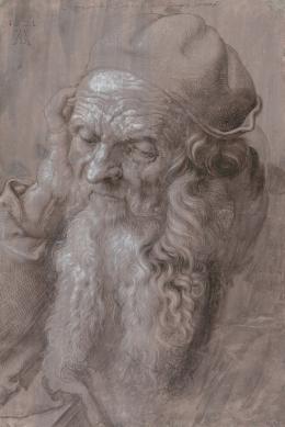 Bildnis eines 93-jährigen Mannes, 1521, Pinsel in Schwarz und Grau, mit Deckweiß gehöht © Albertina, Wien