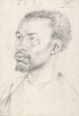 Bildnis eines Afrikaners, 1508, Schwarze Kreide © Albertina, Wien
