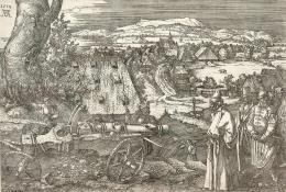 """Albrecht Dürer, """"Landschaft mit Kanone"""" (Die große Kanone), 1518, Radierung  © Albertina, Wien"""