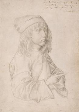 Selbstbildnis als Dreizehnjähriger, 1484, Silberstift auf grundiertem Papier © Albertina, Wien