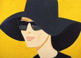 Alex Katz Black Hat 2, 2010 Öl auf Leinwand Albertina, Wien. Sammlung Batliner © Bildrecht, Wien, 2019