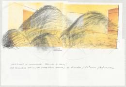 Lara Almarcegui Sketch for project Spanish Pavillon, Venice Biennale, 2013 Zeichnung auf Inkjet-Druck, 38 x 61 cm © Courtesy of the artist
