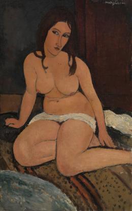 Amedeo Modigliani, Sitzender Akt, 1917, Antwerpen, Koninklijk Museum voor Schone Kunsten KMSKA, Lukasweb – Art in Flanders | Foto © Hugo Maertens