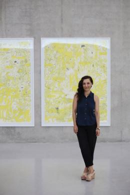 Ania Soliman im Kunsthaus Bregenz, 2020, Foto: Alicia Olmos Ochoa © Kunsthaus Bregenz