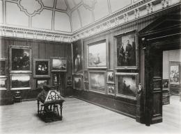 Ansicht der ständigen Sammlung: Die Sammlung Hamburgischer Meister des 19. Jahrhunderts, 1918 Foto: unbekannt © Hamburger Kunsthalle