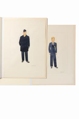 Viktor Weixler, Entwürfe für eine Galauniform und einen Wintermantel für die Wiener Sängerknaben, 1944  Wien Museum Foto: Paul Bauer © Wien Museum