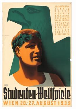 "Franz Kralicek, Plakat ""Studenten-Weltspiele, Wien 20.-27. August 1939"", 1939  Wien Museum Foto: Birgit und Peter Kainz © Wien Museum"