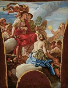 Nach Giovanni Battista Gaulli, gen. Il Baciccio (1639-1709) Allegorie der Justitia, ca. 1670