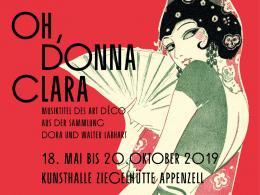 Ausschnitt aus Emmy Sagai Oh, Donna Clara!, 1930 Musiktitel, Offset auf Papier, Sammlung Walter und Dora Labhart