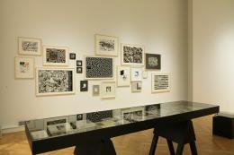 """Blick in die Ausstellung """"Es zog mich durch die Bilder..."""" kubin@nextcomic, 14. März. bis 25. Aug. 2019, Landesgalerie Linz Foto: Oö. Landesmuseum, A. Bruckböck"""