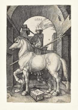 Albrecht Dürer, Das Kleine Pferd, 1505, Kupferstich, Dauerleihgabe Stift Stams © Tiroler Landesmuseen