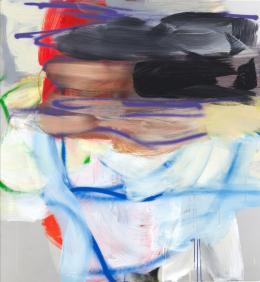 Liliane Tomasko, Blind Spot, 2021, Acryl auf Aluminium, 152x140 cm © Liliane Tomasko
