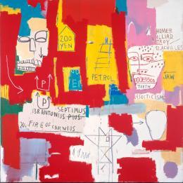 Jean -Michel Basquiat: Don Cabezas II, 1983. Udo und Anette Brandhorst Sammlung ; Foto: Haydar Koyupinar, Bayerische Staatsgemäldesammlungen, München. © VG Bild-Kunst, Bonn 2019