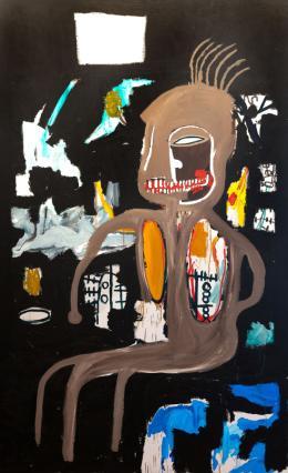 Jean Michel Basquiat, The Thinker, 1986, Acryl auf Leinwand, Private Collection © The Estate of Jean-Michel Basquiat/Bildrecht, Wien 2021