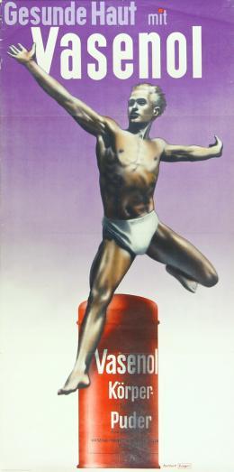 Herbert Bayer, Vasenol, Werbeplakat, um 1930,  Lentos Kunstmuseum Linz © Bildrecht Wien, 2021