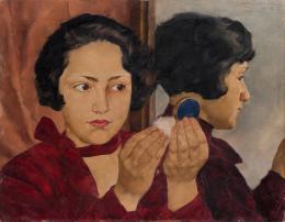 Lotte Laserstein, Russisches Mädchen mit Puderdose, 1928, Städel Museum, Frankfurt am Main, Foto: Städel Museum- ARTOTHEK © VG Bild-Kunst, Bonn 2019