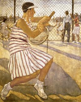 Lotte Laserstein, Tennisspielerin, 1929, Privatbesitz, Bild: Lotte-Laserstein-Archiv/ Krausse, Berlin © VG Bild-Kunst, Bonn 2019