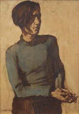 Lotte Laserstein, Traute im grünen Pullover, um 1931, Privatbesitz, Schweden, Foto: Matthew Hollow Photography © VG Bild-Kunst, Bonn 2019