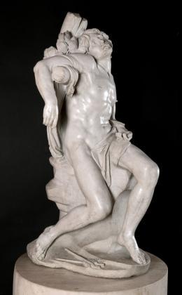 Gian Lorenzo Bernini (Neapel 1598–1680 Rom), Hl. Sebastian, Rom, 1617, Marmor, H. 98,8 cm, Privatbesitz; als Leihgabe im Museo Thyssen-Bornemisza, Madrid © Foto: Museo Nacional Thyssen-Bornemisza, Madrid