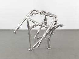 Bettina Pousttchi, Felix, 2018, Fahrradbügel Edelstahl, Courtesy Buchmann Galerie und die Künstlerin, Foto: Roman März