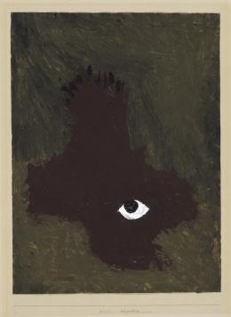 Paul Klee, N****blick, 1933, 462, Kleisterfarbe auf Papier auf Karton, 49,5 x 37 cm © Zentrum Paul Klee, Bern