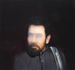 Ingmar Alge, Portrait Nr. 10, 2018, Öl auf Leinwand 60x65