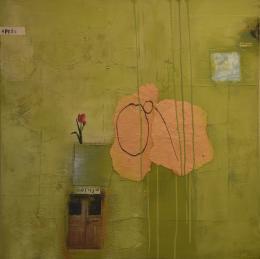 """May-Britt Nyberg Chromy, """"April"""", Acryl und Collage auf Leinwand, 2020 © May-Britt Nyberg Chromy"""